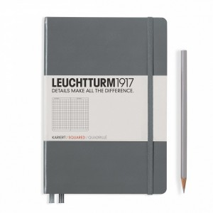 Notatnik Leuchtturm1917 Medium A5, Kratka, Antracytowy
