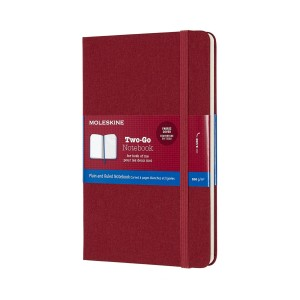 Notatnik Moleskine Two-Go M Cranberry Red