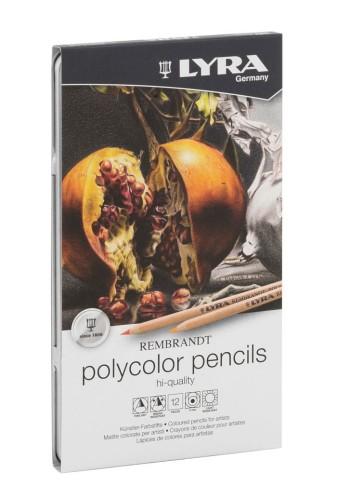 Kredki Lyra Rembrandt Polycolor 12 Kolorów